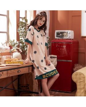Women Summer Pajama Cotton Short-Sleeved Maternity Sleepwear
