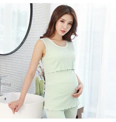 Women Sleeveless Anti-Glare Cover Cotton Clothing Maternity Nursing Wear