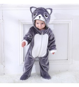 Baby Bear Clothes Thick Warm Romper Pajamas Foot Winter Wear