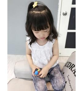 Kids Children Girl Summer Vest Lace Sleeveless T-Shirt Tops