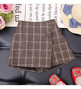 Kids Children Girl Korean Short Autumn Striped Skirt Bottoms