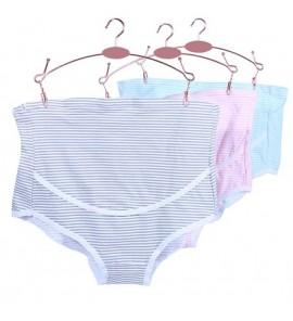 Women High Waist Cotton Stomach lift Breathable Trimester Maternity Underwear