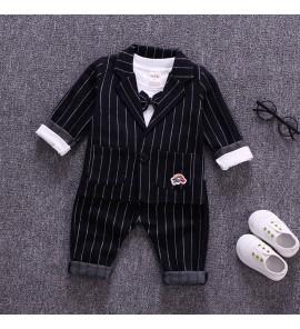 Kids Boys Korean Comfy Outfit Stripe Cotton Boys Spring Outfit Kids Clothing Set