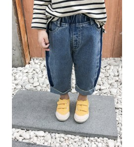 Kids Boys Cotton Small Class Boy Denim Jeans Outfit Pants Kids Clothing Bottoms
