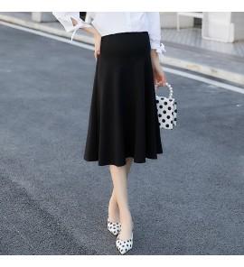 Women Maternity Skirt Stretch Stomach Lift Cotton Long Section Maternity Skirt