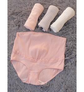 Women High Waist Cotton Stomach lift Breathable Trimester Women Maternity Underwear