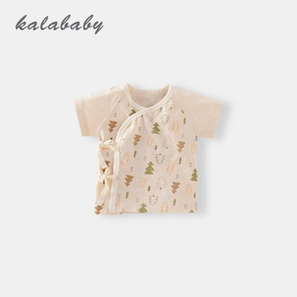 Baby Tops Summer Newborn Clothes Cotton Short-Sleeved Monk  Jacket Baby Clothing