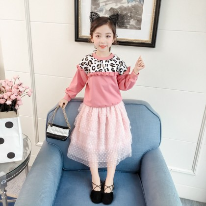 Kids Girls Korean Cute Lace Cake Skirt Princess Fairy Skirt Kids Clothing Bottoms