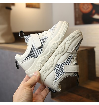 Kids Boys Shoes Sports Children's Running Shoes Big Cute Sporty White Mesh Shoes