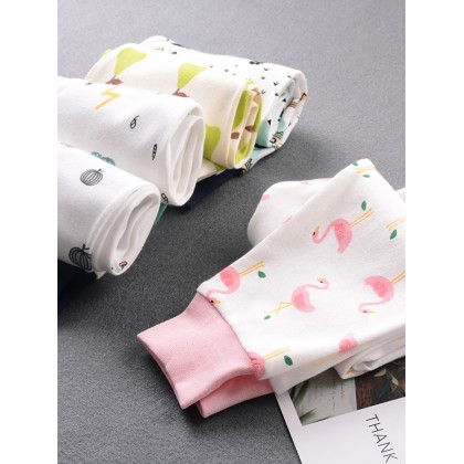 Baby Bottoms Cottony Elastic Pants Trousers Comfy Autumn and Spring Warm Pajamas