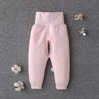 Baby Bottoms Elastic Plaid Pants Trousers Comfy Cotton Winter Warm Pajama Autumn