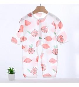 Baby Sleepwear Siamese Cotton Bamboo Fiber Romper Newborn Comfy Children Clothes