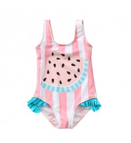 Baby Swimwear Korean Girls Swimsuit One Piece Children's Summer Pastel Colorful