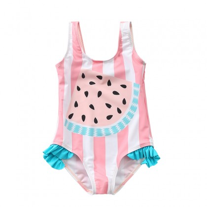 Baby Swimwear Korean Girls Swimsuit One Piece Children's Summer Pastel Colorful