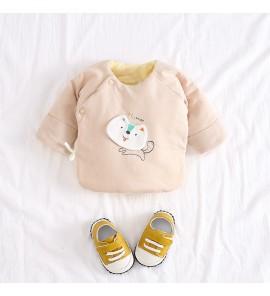Baby Winter Clothes Wear Newborn Spring Clip Cotton Jacket Half Back Monk Suit