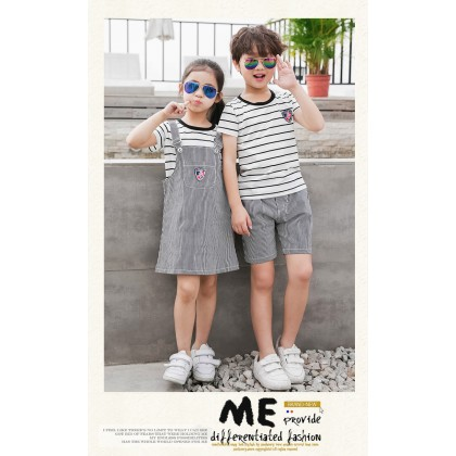 Parent Child Clothing Summer Dress Family of Three Cottony Mesh Section Clothing