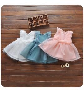 Kids Clothing Girls Dress Summer  Wear Princess Raffles Cute Mesh Casual Outfits