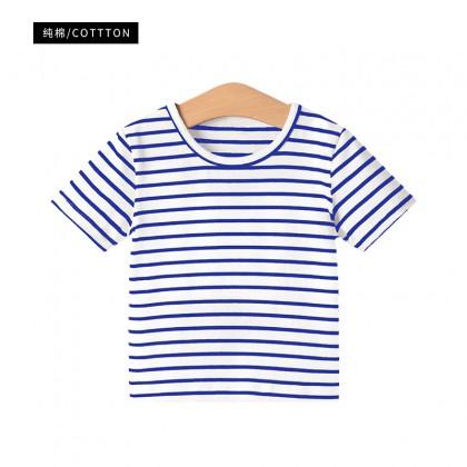 Kids Girls Tops Clothing Summer Striped Short Sleeved T- Shirt New Cute Summer