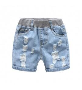 Kids Clothing Boys Bottoms Denim Tattered  Jeans Shorts Children's Summer Pants