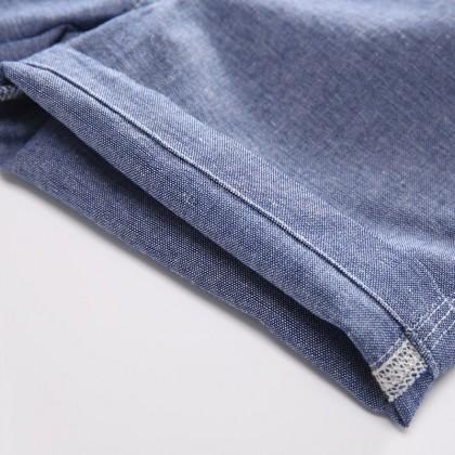 Kids Clothing Boys Bottoms Denim Shorts  Korean Outfits Summer Open Style Pants