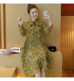 Women Maternity Dress Pregnant Spring and Summer Chiffon Korean Loose Floral Top