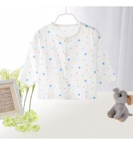 Baby Clothing Top Blouse Cotton Gauze Long Sleeved Cardigan Newborn Single Piece