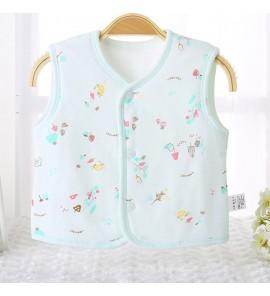 Baby Clothing Tops Vest Spring  Autumn Shoulder Quilted Cotton Warm Wear Newborn