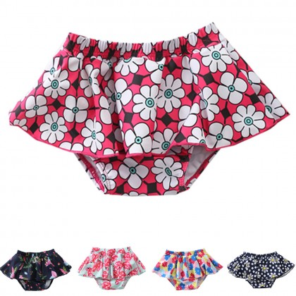 Baby Clothing Swimwear Lotus Leaf Girl Swimming Outfits Trunks Summer Beach Wear