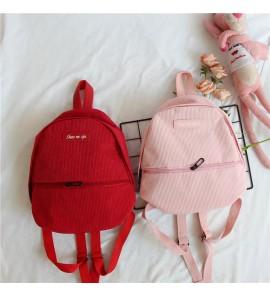 Kids Girl Bag Children Summer Female  Mini Backpack Kindergarten Small Corduroy