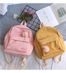 Kids Girl Bag Children Retro Corduroy Mini Backpack Soft  Female Waterproof Back