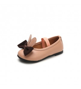 Kids Girls Shoes Princess Summer Spring Flats Sandal Female Leather New Cute Bow