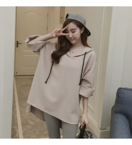 Women Maternity Tops Pregnancy Autumn Spring Loose Shirt Long Comfortable Outfit