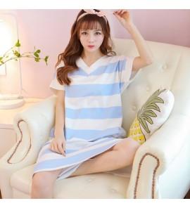 Women Maternity Sleepwear Loose Cotton New Night Dress Short Sleeved Sweet Fresh