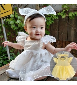Baby Dress Set Clothing Female Wear Newborn Summer New Princess Mesh Lace Outfit