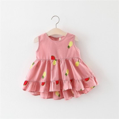 Baby Dress Sets Clothing Newborn Female Cute Floral Summer Koreans Cotton Dress