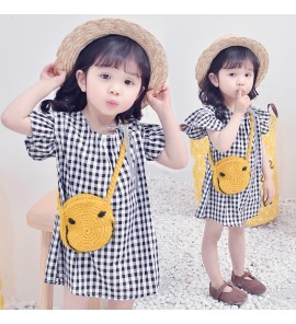 Kids Girls Clothing Dress Set Summer Style Children's Wear Flying Sleeve Outfits