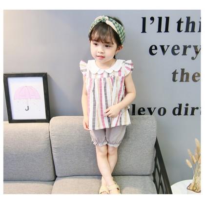 Kids Girls Clothing Tops Little Female Square Doll Collar Princess Shirt Blouse