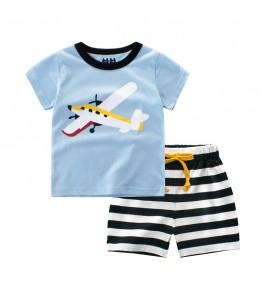 Kids Boys Clothing Set Children's Korean's Style Short Sleeved Cotton Sportswear