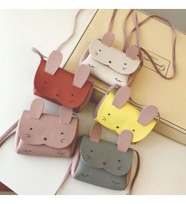 Kids Girls Bag Mini Cute Cartoon Rabbit Decorative Female Casual Shoulder Sling