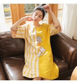 Women Maternity  Sleepwear Loose Cotton Summer Pregnancy Postpartum Female Dress