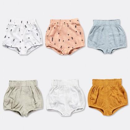Baby Clothing Bottom Newborn Cotton Gauze Summer Wear  Bread Pants Female Shorts