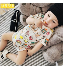 Baby Clothing Sleep Night Wear Newborn Thin Cotton Cute Printed Onesies Clothes
