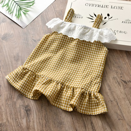 Kids Clothing  Dress Girls Set Children's Princess Western Style Summer Fashion