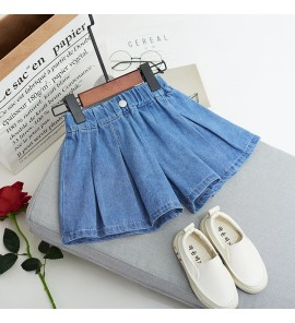 Kids Clothing Bottoms Denim Short Summer Casual Korean Fashion Style Loose Jeans