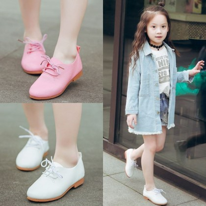 Kids Girls Shoes Cute Princess Leather Soft Sole Bottom Sandals Casual Foot Wear