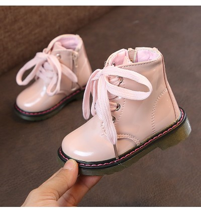 Kids Girls Shoes Summer Female Soft Sole Leather Synthetic New Cute Tie Boots