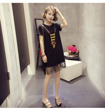 Women Maternity Clothing Summer Dress Cotton Short Sleeved Korean Style Loose