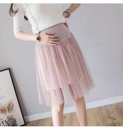 Women Maternity Skirts Clothes Stomach Lift Cotton Mesh Bottom Summer Pregnancy