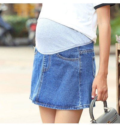 Women Maternity Skirts Pregnant Women Cotton Stomach Lift Outwear Denim Wear