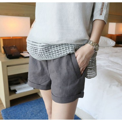 Women Maternity Pants Female Short Pants Cotton Summer Wear Pregnancy Outfits
